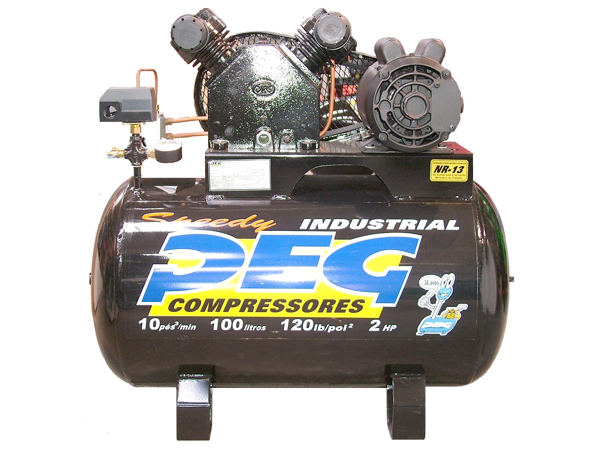 Compressor 10 pes 100 Lts